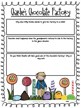 Charlie and the Chocolate Factory {Dodecahedron  Puzzle, Novel Study, & Bingo}