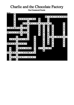 Charlie and the Chocolate Factory - Fun Crossword Puzzle