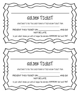 Charlie and the Chocolate Factory: Golden Tickets