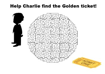 Charlie and the Chocolate Factory Golden ticket maze puzzle