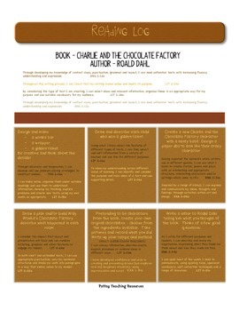 Charlie and the Chocolate Factory Guided Reading Curriculu