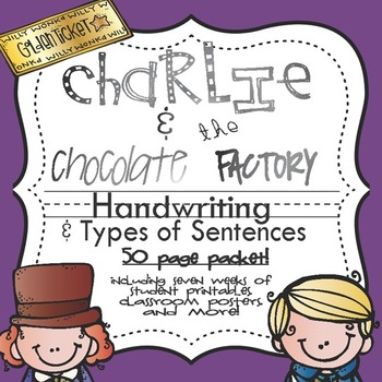 Charlie and the Chocolate Factory Handwriting Packet {type