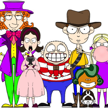 Charlie and the Chocolate Factory Inspired Clip Art