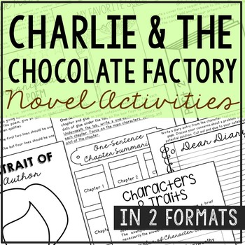 Charlie and the Chocolate Factory Interactive Notebook Novel Unit Study
