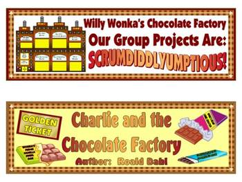 Charlie and the Chocolate Factory Large Group Project (Roald Dahl)