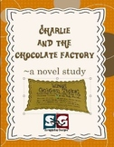Charlie and the Chocolate Factory Novel Study - Vocabulary, Chapter Work, Exams