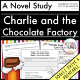 Charlie and the Chocolate Factory Novel Study Unit Distance Learning
