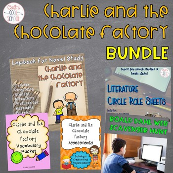 Charlie and the Chocolate Factory Novel Study BUNDLE with Lapbook
