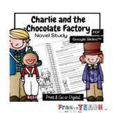 Charlie and the Chocolate Factory Novel Study Roald Dahl