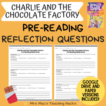 Charlie and the Chocolate Factory Pre-Reading Reflection Questions