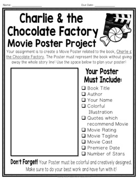 charlie and the chocolate factory project create a movie poster