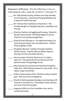 Charlie and the Chocolate Factory (Roald Dahl) Novel Study  (39 pages)