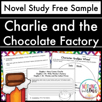 Charlie and the Chocolate Factory Novel Study Unit: FREE Sample