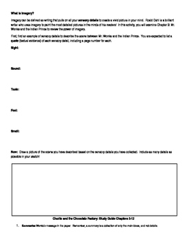 Charlie and the Chocolate Factory Study Guides and Activities