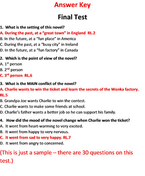 Charlie and the Chocolate Factory Test