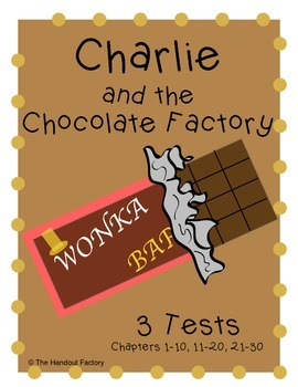 Charlie and the Chocolate Factory Assessments (Tests)