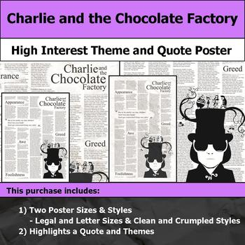 Charlie and the Chocolate Factory - Theme and Quote Poster for Bulletin Boards
