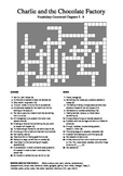 Charlie and the Chocolate Factory - Vocabulary Crossword Chapters 5 - 8
