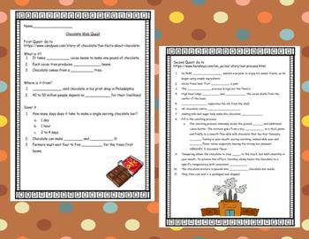 Charlie and the Chocolate Factory Web Quest