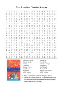 Charlie and the Chocolate Factory - Word Search Puzzle