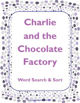 Charlie and the Chocolate Factory Word Search & Sort