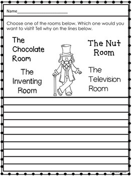 Charlie and the Chocolate Factory activities, End of book worksheets