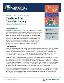 Charlie and the Chocolate Factory by Roald Dahl Discussion Guide