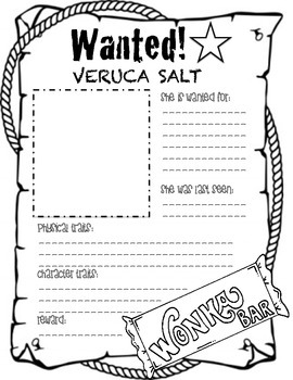 Charlie and the Chocolate Factory wanted posters