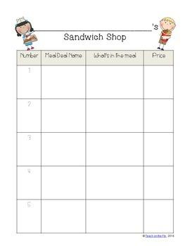Charlie's Sandwich Shop! Problem Solving with Money