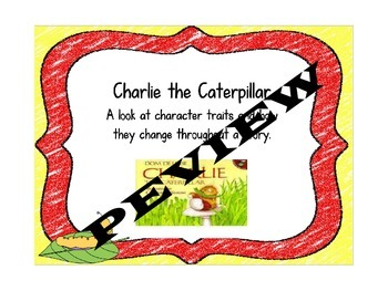 Charlie the Caterpillar Craftivity with Character