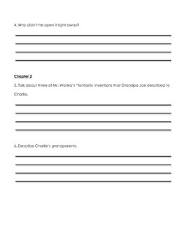 Charlie & the Chocolate Factory Chapter Quizzes