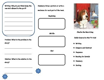 Charlie the Ranch Dog Comprehension Tri-fold