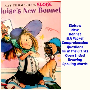 Eloises New Bonnet Reading Packet Early Readers Pre-K to 1st Comprehension ELA