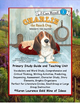 """Charlie the Ranch Dog """"Where's the Bacon?""""  by Ree Drummond Study Guide"""