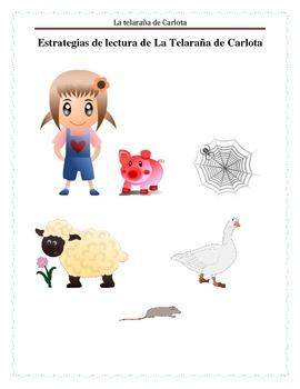 Charllote's Web Reading strategies Spanish