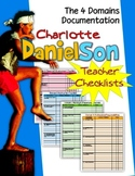 CHARLOTTE DANIELSON 2007-2011 TEACHER CHECKLISTS: DOCUMENTING THE FOUR DOMAINS