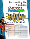 CHARLOTTE DANIELSON 2013 TEACHER CHECKLISTS: DOCUMENTING THE FOUR DOMAINS