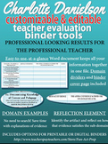 Charlotte Danielson Teacher Evaluation (APPR) Editable At-A-Glance Documentation
