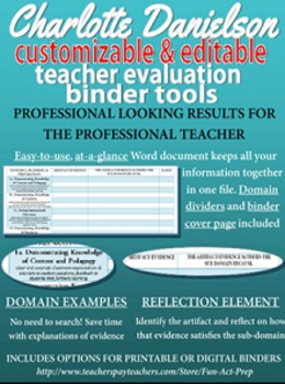 Charlotte Danielson Teacher Evaluation (APPR) Editable At-