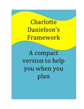 Charlotte Danielson's Domains for Planning: A Compact Version