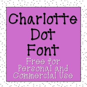 Charlotte Dot Font [Free for Commercial and Personal Use]