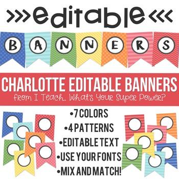 Editable Banners Charlotte
