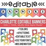 Charlotte Editable Banner