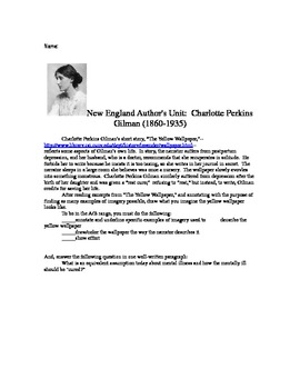 "Charlotte Perkins Gilman and ""The Yellow Wallpaper"""
