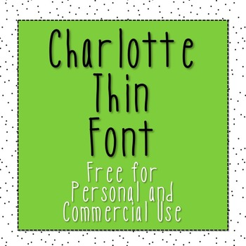 Charlotte Thin Font [Free for Commercial and Personal Use]