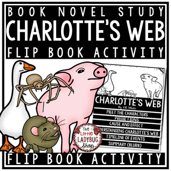 Charlotte's Web Novel by E.B. White [Flip Book Review Template]