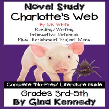 Charlotte's Web, Complete Novel Study &  Enrichment Project Menu