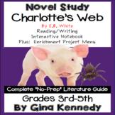 Charlotte's Web Novel Study &  Enrichment Project Menu