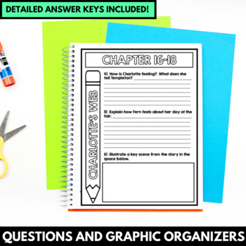 Charlotte's Web Novel Study Unit - Book Study with Questions and Activities