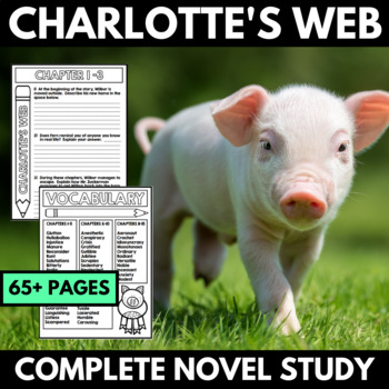 Charlotte's Web Novel Study Unit - Book Study with Questio